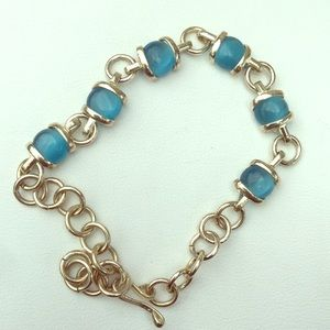 Jewelry - Sterling silver bracelet with blue elements